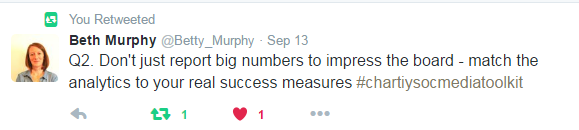 Don't just report big numbers to impress the board #CharitySocMedToolkit