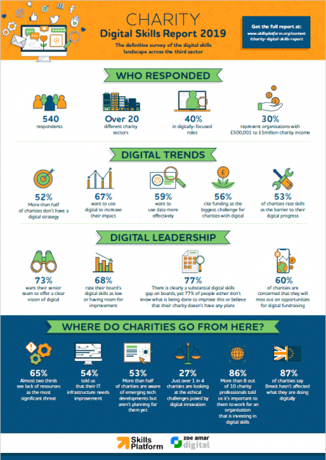 Charity Digital Skills Report 2019 Infographic