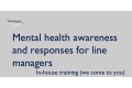 Mental health awareness and responses for Line Managers