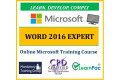 Microsoft Office Word 2016 Expert - Online CPD Training Course & Certification
