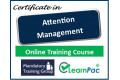 Certificate in Attention Management - Online Training Course - 85% OFF Buy Now £29.99
