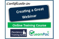 Certificate in Creating a Great Webinar - Online Training Course - 85% OFF Buy Now £29.99