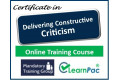 Certificate in Delivering Constructive Criticism - Online Training Course - 85% OFF Buy Now £29.99