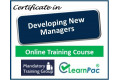 Certificate in Developing New Managers - Online Training Course - 85% OFF Buy Now £29.99