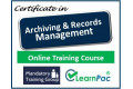Certificate in Archiving and Records Management - Online Training Course - 85% OFF Buy Now £29.99
