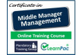 Certificate in Middle Manager Management - Online Training Course - 85% OFF Buy Now £29.99
