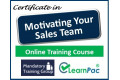 Certificate in Motivating your Sales Team - Online Training Course - 85% OFF Buy Now £29.99