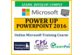 Power Up PowerPoint 2016 - Online CPD Training Course & Certification