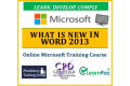 What is New in Word 2013 - Online CPD Training Course & Certification