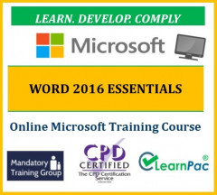 Microsoft Office Word 2016 Essentials - Online CPD Training Course & Certification - The Mandatory Training Group UK -